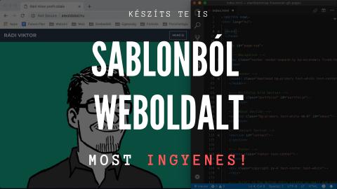 Weboldalkészítés Sablonból